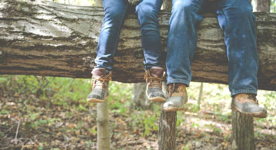 Feet hanging picture
