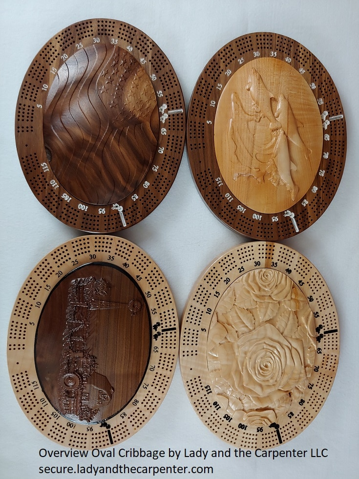 Oval Cribbage Boards
